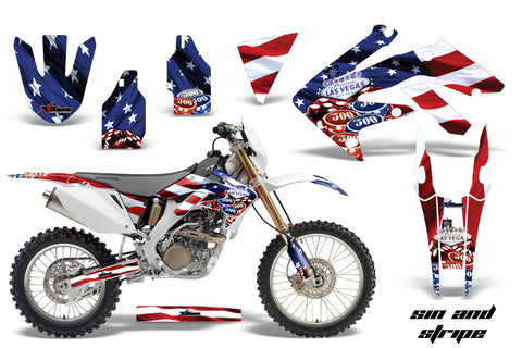 Dirt Bike Decal Graphics Kit MX Sticker Wrap For Honda CRF250X 2004-2017  USA SINS