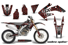 Load image into Gallery viewer, Dirt Bike Decal Graphics Kit MX Sticker Wrap For Honda CRF250X 2004-2017 WIDOW RED BLACK-atv motorcycle utv parts accessories gear helmets jackets gloves pantsAll Terrain Depot