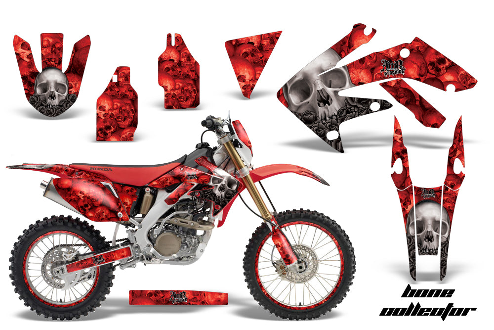 Graphics Kit Decal Sticker Wrap + # Plates For Honda CRF250X 2004-2017 BONES RED-atv motorcycle utv parts accessories gear helmets jackets gloves pantsAll Terrain Depot