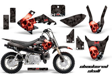 Load image into Gallery viewer, Dirt Bike Graphics Kit Decal Wrap For Honda CRF50 CRF 50 2014-2018 CHECKERED RED BLACK-atv motorcycle utv parts accessories gear helmets jackets gloves pantsAll Terrain Depot