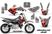 Load image into Gallery viewer, Dirt Bike Graphics Kit Decal Wrap For Honda CRF50 CRF 50 2014-2018 CHECKERED RED SILVER-atv motorcycle utv parts accessories gear helmets jackets gloves pantsAll Terrain Depot