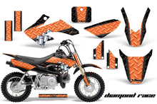 Load image into Gallery viewer, Dirt Bike Graphics Kit Decal Wrap For Honda CRF50 CRF 50 2004-2013 DIAMOND RACE ORANGE BLACK-atv motorcycle utv parts accessories gear helmets jackets gloves pantsAll Terrain Depot