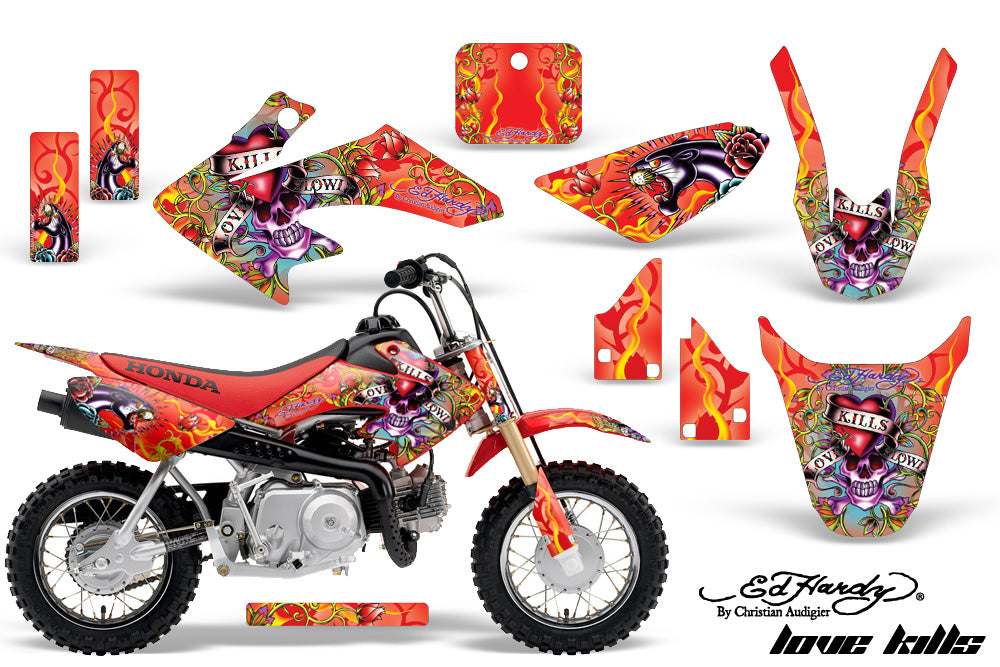Dirt Bike Graphics Kit Decal Wrap For Honda CRF50 CRF 50 2014-2018 EDHLK RED-atv motorcycle utv parts accessories gear helmets jackets gloves pantsAll Terrain Depot