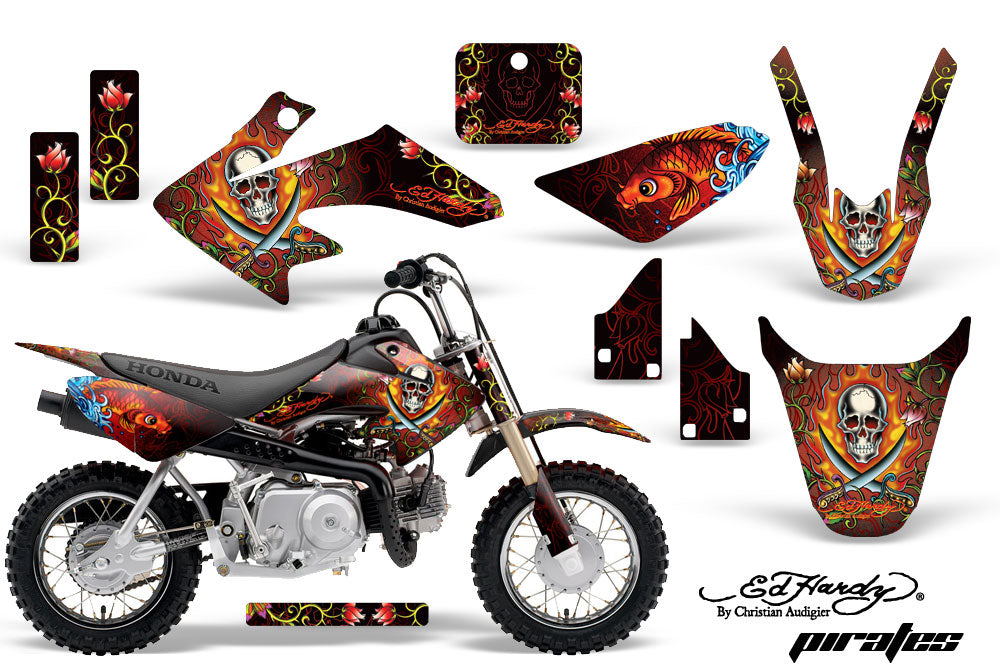 Dirt Bike Graphics Kit Decal Wrap For Honda CRF50 CRF 50 2004-2013 EDHP RED-atv motorcycle utv parts accessories gear helmets jackets gloves pantsAll Terrain Depot