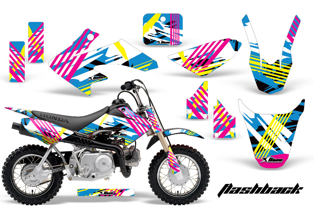 Dirt Bike Graphics Kit Decal Wrap For Honda CRF50 CRF 50 2014-2018 FLASHBACK-atv motorcycle utv parts accessories gear helmets jackets gloves pantsAll Terrain Depot