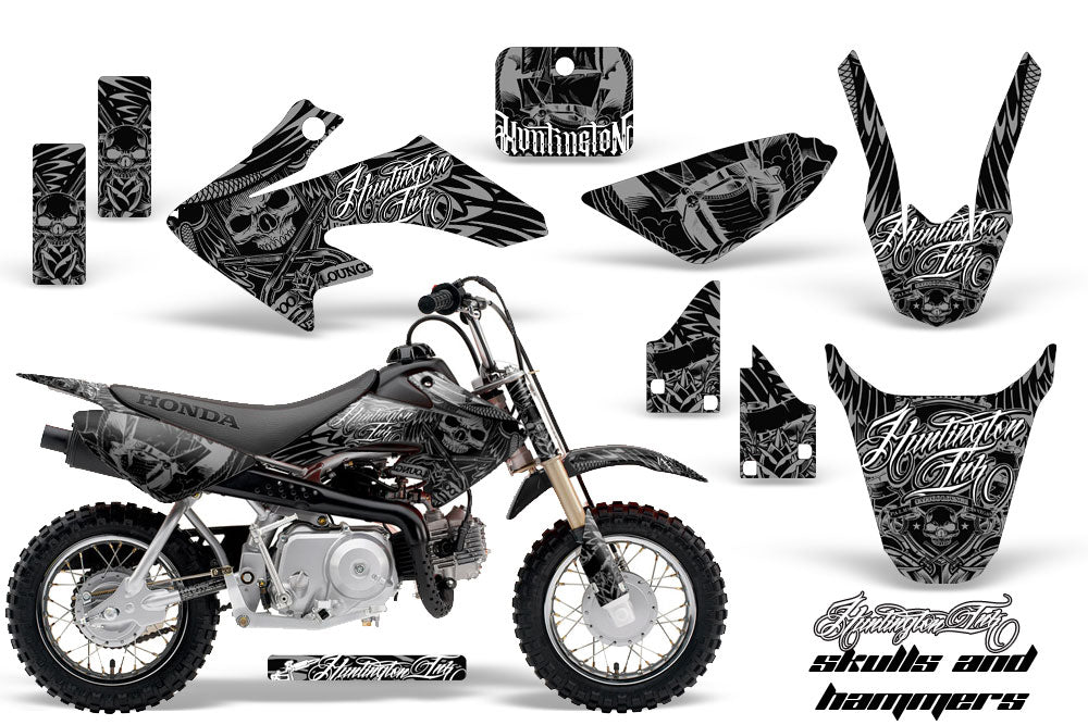 Dirt Bike Graphics Kit Decal Wrap For Honda CRF50 CRF 50 2014-2018 HISH SILVER-atv motorcycle utv parts accessories gear helmets jackets gloves pantsAll Terrain Depot