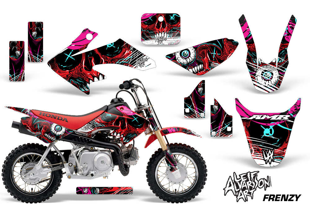 Dirt Bike Graphics Kit Decal Wrap For Honda CRF50 CRF 50 2004-2013 FRENZY RED-atv motorcycle utv parts accessories gear helmets jackets gloves pantsAll Terrain Depot