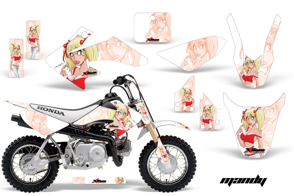 Dirt Bike Graphics Kit Decal Wrap For Honda CRF50 CRF 50 2014-2018 MANDY RED WHITE-atv motorcycle utv parts accessories gear helmets jackets gloves pantsAll Terrain Depot