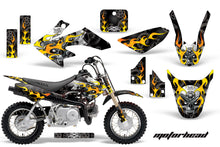 Load image into Gallery viewer, Dirt Bike Graphics Kit Decal Wrap For Honda CRF50 CRF 50 2004-2013 MOTORHEAD BLACK-atv motorcycle utv parts accessories gear helmets jackets gloves pantsAll Terrain Depot