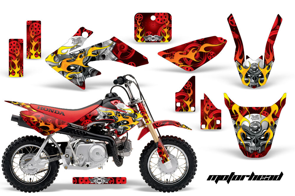 Dirt Bike Graphics Kit Decal Wrap For Honda CRF50 CRF 50 2014-2018 MOTORHEAD RED-atv motorcycle utv parts accessories gear helmets jackets gloves pantsAll Terrain Depot
