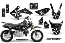 Load image into Gallery viewer, Dirt Bike Graphics Kit Decal Wrap For Honda CRF50 CRF 50 2004-2013 NORTHSTAR BLACK-atv motorcycle utv parts accessories gear helmets jackets gloves pantsAll Terrain Depot