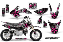 Load image into Gallery viewer, Dirt Bike Graphics Kit Decal Wrap For Honda CRF50 CRF 50 2004-2013 NORTHSTAR PINK SILVER-atv motorcycle utv parts accessories gear helmets jackets gloves pantsAll Terrain Depot