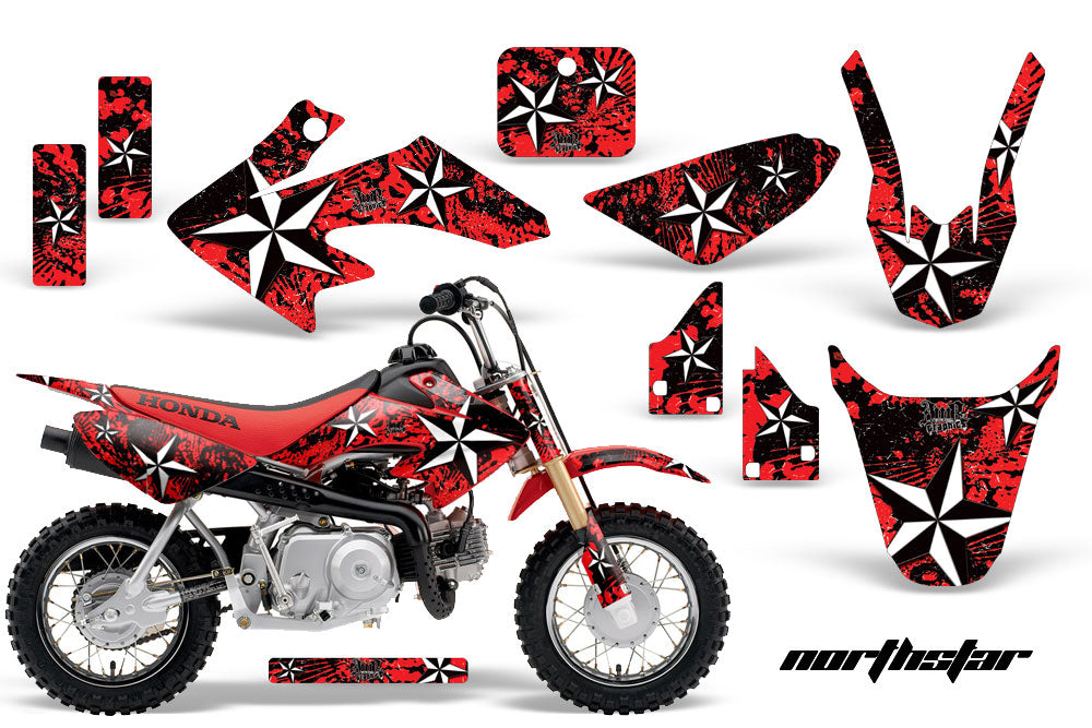 Dirt Bike Graphics Kit Decal Wrap For Honda CRF50 CRF 50 2014-2018 NORTHSTAR RED-atv motorcycle utv parts accessories gear helmets jackets gloves pantsAll Terrain Depot