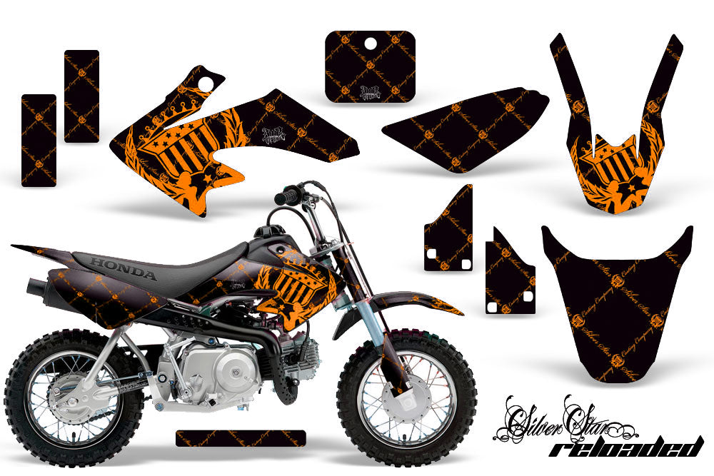 Dirt Bike Graphics Kit Decal Wrap For Honda CRF50 CRF 50 2014-2018 RELOADED ORANGE BLACK-atv motorcycle utv parts accessories gear helmets jackets gloves pantsAll Terrain Depot