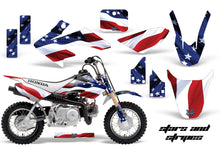Load image into Gallery viewer, Dirt Bike Graphics Kit Decal Wrap For Honda CRF50 CRF 50 2004-2013 USA FLAG-atv motorcycle utv parts accessories gear helmets jackets gloves pantsAll Terrain Depot