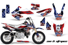 Load image into Gallery viewer, Dirt Bike Graphics Kit Decal Wrap For Honda CRF50 CRF 50 2004-2013 USA SINS-atv motorcycle utv parts accessories gear helmets jackets gloves pantsAll Terrain Depot