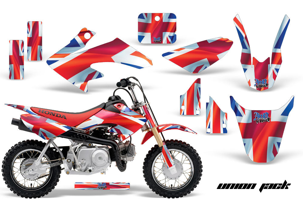Dirt Bike Graphics Kit Decal Wrap For Honda CRF50 CRF 50 2004-2013 UNION JACK-atv motorcycle utv parts accessories gear helmets jackets gloves pantsAll Terrain Depot