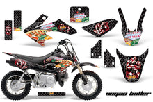 Load image into Gallery viewer, Dirt Bike Graphics Kit Decal Wrap For Honda CRF50 CRF 50 2014-2018 VEGAS BLACK-atv motorcycle utv parts accessories gear helmets jackets gloves pantsAll Terrain Depot