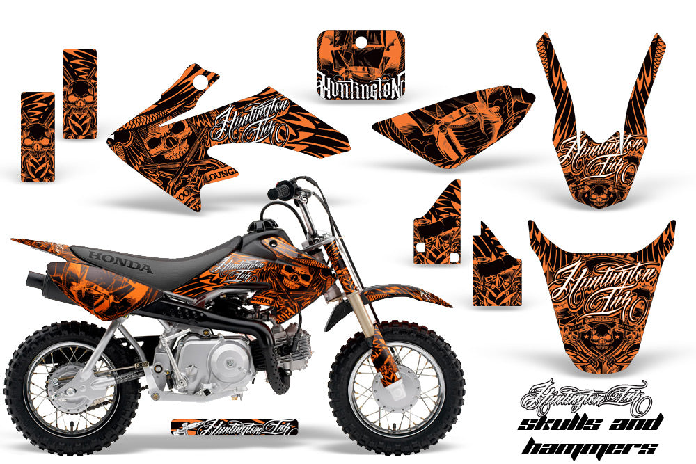 Dirt Bike Graphics Kit Decal Wrap For Honda CRF50 CRF 50 2014-2018 HISH ORANGE-atv motorcycle utv parts accessories gear helmets jackets gloves pantsAll Terrain Depot