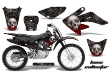 Load image into Gallery viewer, Dirt Bike Graphics Kit Decal Sticker Wrap For Honda CRF70 2004-2015 BONES BLACK-atv motorcycle utv parts accessories gear helmets jackets gloves pantsAll Terrain Depot
