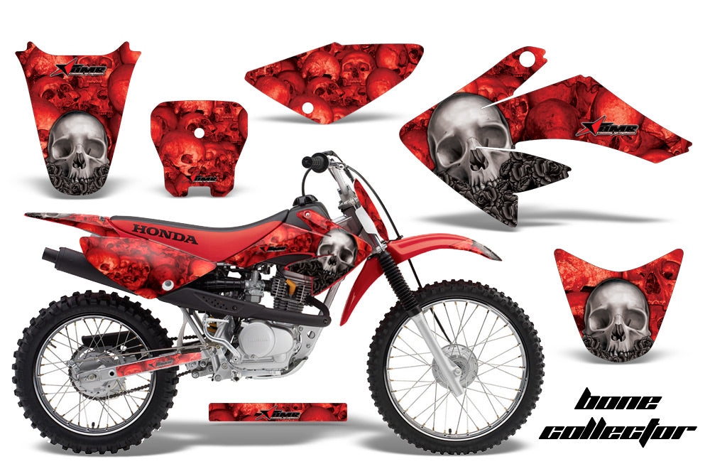 Dirt Bike Graphics Kit Decal Sticker Wrap For Honda CRF70 2004-2015 BONES RED-atv motorcycle utv parts accessories gear helmets jackets gloves pantsAll Terrain Depot