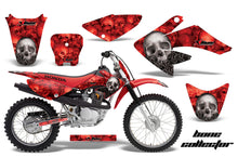 Load image into Gallery viewer, Dirt Bike Graphics Kit Decal Sticker Wrap For Honda CRF70 2004-2015 BONES RED-atv motorcycle utv parts accessories gear helmets jackets gloves pantsAll Terrain Depot