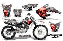 Load image into Gallery viewer, Dirt Bike Graphics Kit Decal Sticker Wrap For Honda CRF80 2004-2010 CHECKERED RED SILVER-atv motorcycle utv parts accessories gear helmets jackets gloves pantsAll Terrain Depot