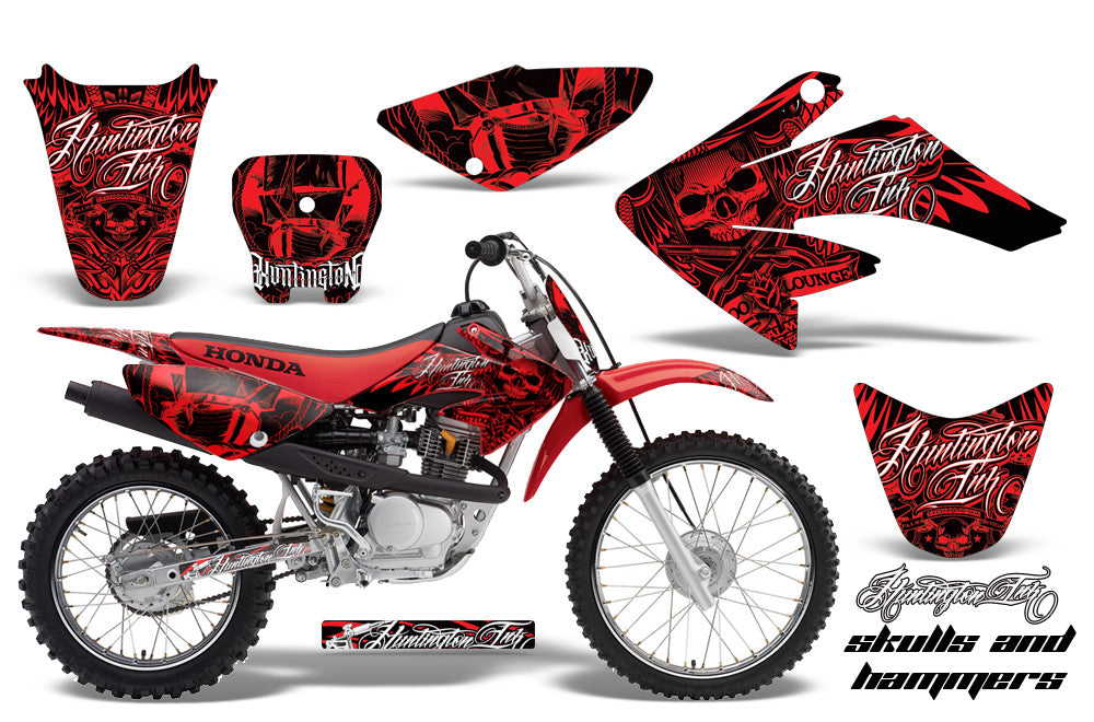 Dirt Bike Graphics Kit Decal Sticker Wrap For Honda CRF80 2004-2010 HISH RED-atv motorcycle utv parts accessories gear helmets jackets gloves pantsAll Terrain Depot