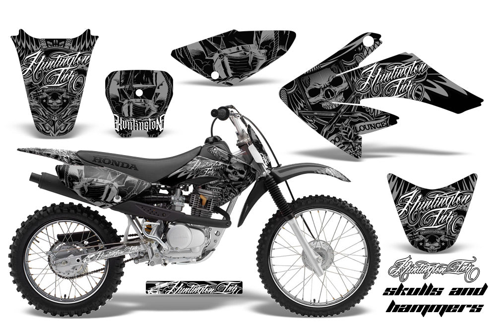 Dirt Bike Graphics Kit Decal Sticker Wrap For Honda CRF80 2004-2010 HISH SILVER-atv motorcycle utv parts accessories gear helmets jackets gloves pantsAll Terrain Depot