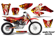 Load image into Gallery viewer, Dirt Bike Graphics Kit Decal Sticker Wrap For Honda CRF80 2004-2010 MOTO MANDY RED-atv motorcycle utv parts accessories gear helmets jackets gloves pantsAll Terrain Depot