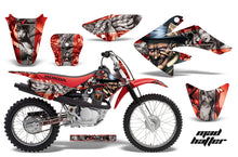 Load image into Gallery viewer, Dirt Bike Graphics Kit Decal Sticker Wrap For Honda CRF80 2004-2010 HATTER SILVER RED-atv motorcycle utv parts accessories gear helmets jackets gloves pantsAll Terrain Depot