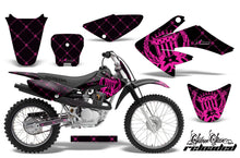 Load image into Gallery viewer, Dirt Bike Graphics Kit Decal Sticker Wrap For Honda CRF80 2004-2010 RELOADED PINK BLACK-atv motorcycle utv parts accessories gear helmets jackets gloves pantsAll Terrain Depot