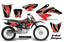 Load image into Gallery viewer, Dirt Bike Graphics Kit Decal Sticker Wrap For Honda CRF80 2004-2010 TRIBAL RED BLACK-atv motorcycle utv parts accessories gear helmets jackets gloves pantsAll Terrain Depot