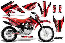 Load image into Gallery viewer, Dirt Bike Graphics Kit MX Decal Wrap For Honda CRF80 CRF100 2011-2016 INLINE RED BLACK-atv motorcycle utv parts accessories gear helmets jackets gloves pantsAll Terrain Depot