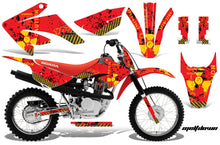 Load image into Gallery viewer, Dirt Bike Graphics Kit MX Decal Wrap For Honda CRF80 CRF100 2011-2016 MELTDOWN YELLOW RED-atv motorcycle utv parts accessories gear helmets jackets gloves pantsAll Terrain Depot