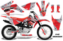 Load image into Gallery viewer, Dirt Bike Graphics Kit MX Decal Wrap For Honda CRF80 CRF100 2011-2016 WARHAWK RED-atv motorcycle utv parts accessories gear helmets jackets gloves pantsAll Terrain Depot
