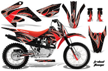 Load image into Gallery viewer, Dirt Bike Graphics Kit MX Decal Wrap For Honda CRF80 CRF100 2011-2016 TRIBAL RED BLACK-atv motorcycle utv parts accessories gear helmets jackets gloves pantsAll Terrain Depot