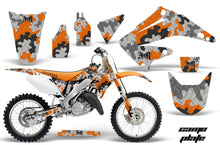 Load image into Gallery viewer, Dirt Bike Graphics Kit Decal Wrap For Honda CR125R CR250R 2002-2008 CAMOPLATE ORANGE-atv motorcycle utv parts accessories gear helmets jackets gloves pantsAll Terrain Depot