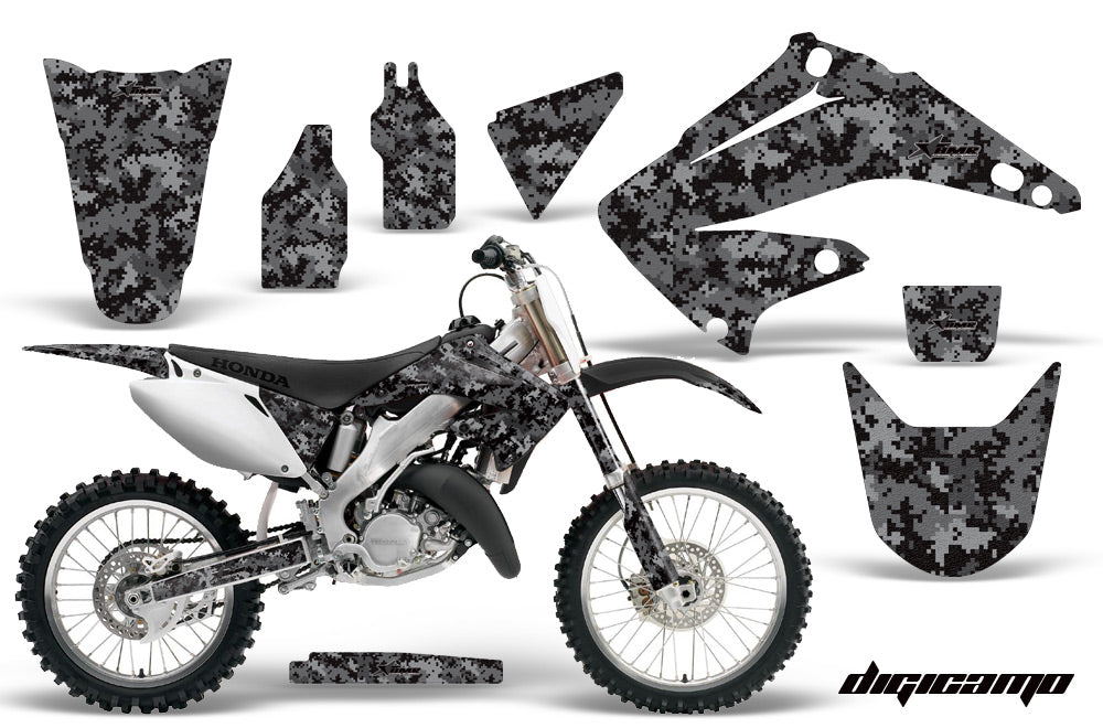 Dirt Bike Graphics Kit Decal Wrap For Honda CR125R CR250R 2002-2008 DIGICAMO BLACK-atv motorcycle utv parts accessories gear helmets jackets gloves pantsAll Terrain Depot