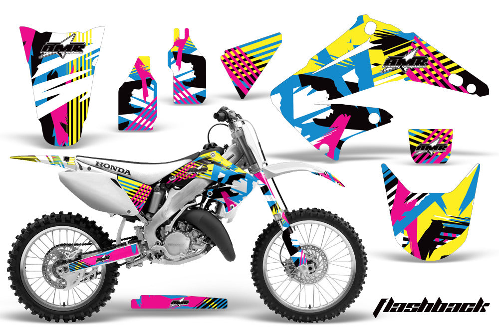 Dirt Bike Graphics Kit Decal Wrap For Honda CR125R CR250R 2002-2008 FLASHBACK-atv motorcycle utv parts accessories gear helmets jackets gloves pantsAll Terrain Depot