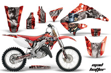 Load image into Gallery viewer, Dirt Bike Graphics Kit Decal Wrap For Honda CR125R CR250R 2002-2008 HATTER SILVER RED-atv motorcycle utv parts accessories gear helmets jackets gloves pantsAll Terrain Depot