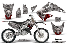 Load image into Gallery viewer, Graphics Kit Decal Wrap + # Plates For Honda CR125R CR250R 2002-2008 BONES SILVER-atv motorcycle utv parts accessories gear helmets jackets gloves pantsAll Terrain Depot