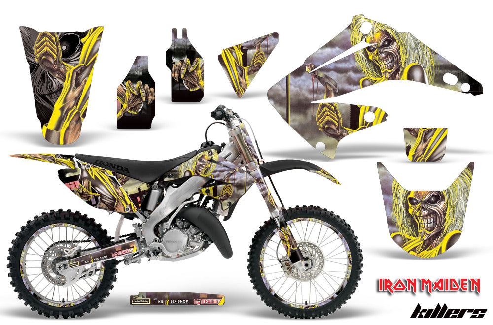 Graphics Kit Decal Wrap + # Plates For Honda CR125R CR250R 2002-2008 IM KILLERS-atv motorcycle utv parts accessories gear helmets jackets gloves pantsAll Terrain Depot