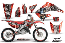 Load image into Gallery viewer, Graphics Kit Decal Wrap + # Plates For Honda CR125R CR250R 2002-2008 HATTER SILVER RED-atv motorcycle utv parts accessories gear helmets jackets gloves pantsAll Terrain Depot