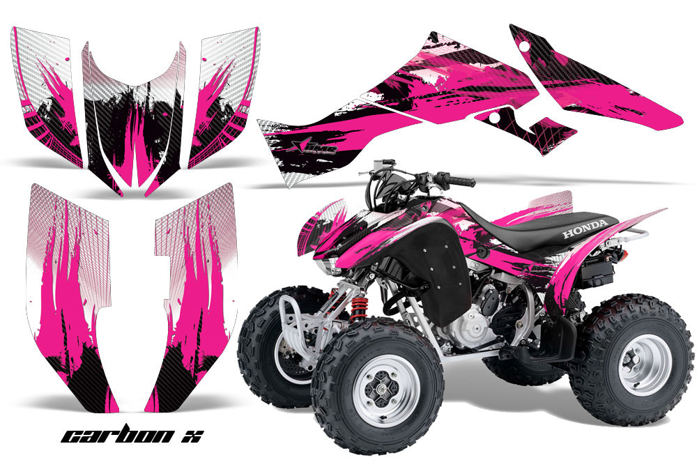 ATV Graphic Kit Quad Decal Wrap For Honda Sportrax TRX300EX 2007-2012 CARBONX PINK-atv motorcycle utv parts accessories gear helmets jackets gloves pantsAll Terrain Depot