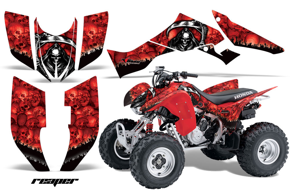 ATV Graphic Kit Quad Decal Wrap For Honda Sportrax TRX300EX 2007-2012 REAPER RED-atv motorcycle utv parts accessories gear helmets jackets gloves pantsAll Terrain Depot