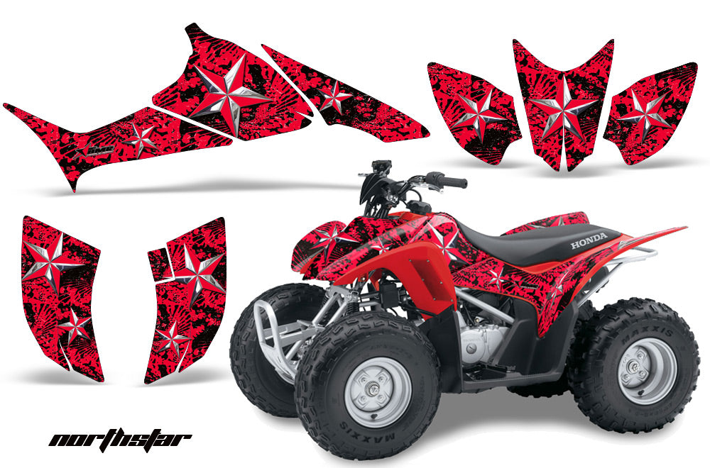 ATV Graphics Kit Quad Decal Sticker Wrap For Honda TRX90 2006-2018 NORTHSTAR RED CHROME-atv motorcycle utv parts accessories gear helmets jackets gloves pantsAll Terrain Depot