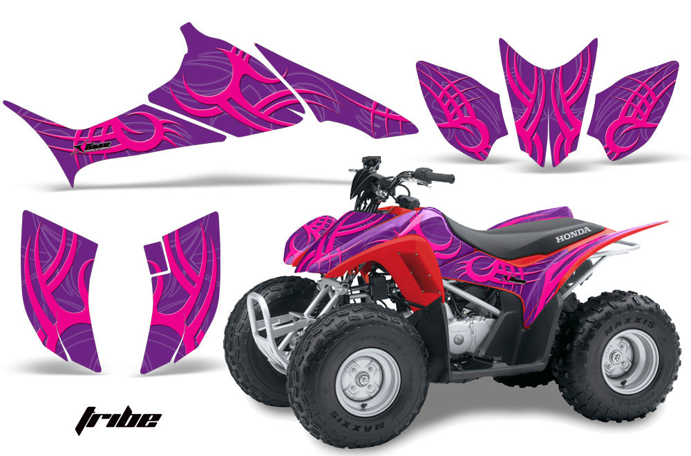 ATV Graphics Kit Quad Decal Sticker Wrap For Honda TRX90 2006-2018 TRIBE PINK PURPLE-atv motorcycle utv parts accessories gear helmets jackets gloves pantsAll Terrain Depot
