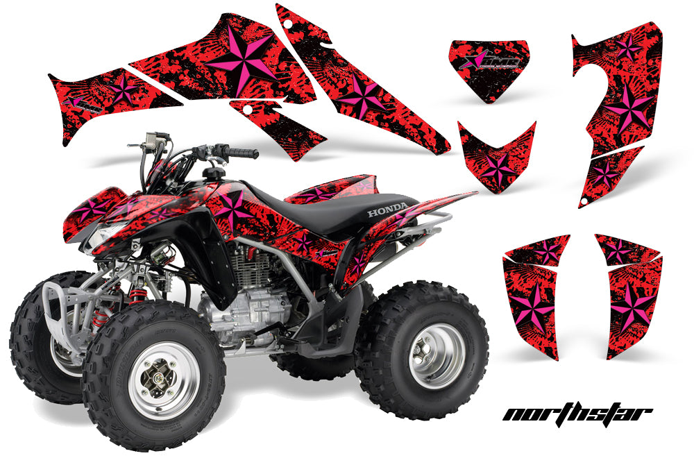 ATV Decal Graphics Kit Quad Sticker Wrap For Honda TRX250X 2006-2018 NORTHSTAR PINK BLACK-atv motorcycle utv parts accessories gear helmets jackets gloves pantsAll Terrain Depot