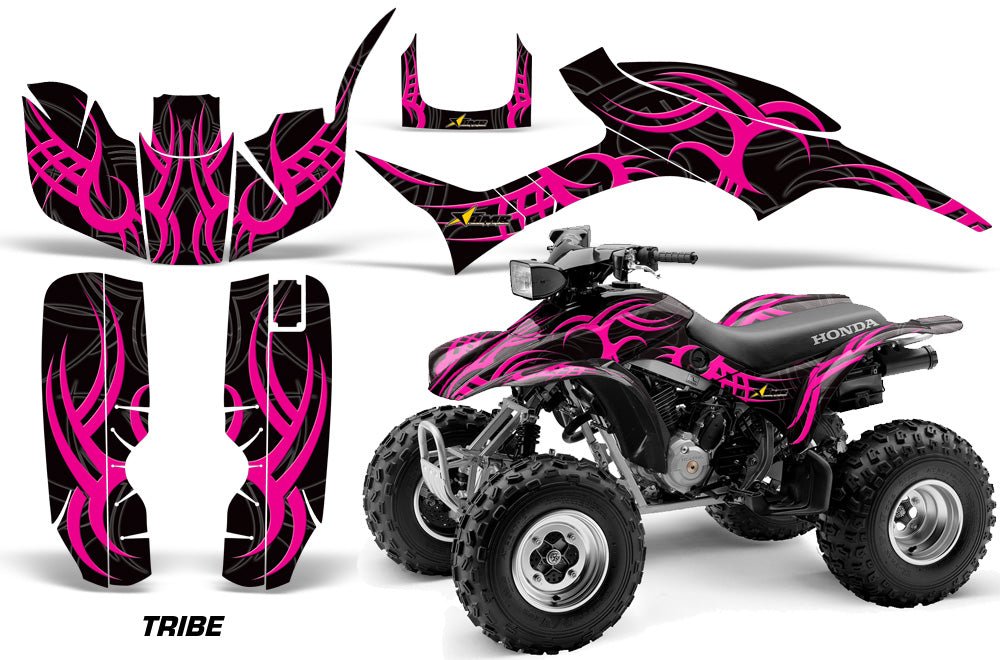 ATV Graphic Kit Quad Decal Wrap For Honda Sportrax TRX300EX 1993-2006 TRIBE PINK BLACK-atv motorcycle utv parts accessories gear helmets jackets gloves pantsAll Terrain Depot